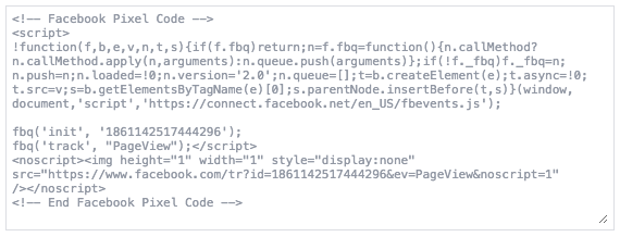 Pixel Remarketing Facebook